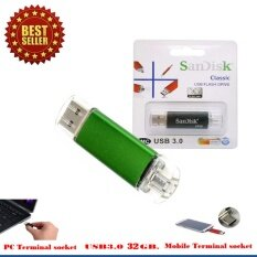 ราคา Sandisk 2 In 1 Usb Micro Usb Flash Drive 32Gb สีเขียว ราคาถูกที่สุด
