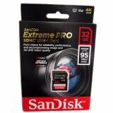 ราคา Sandisk Extreme Pro Sd 32 Gb ส่งโดยเคอรรี่ ของแท้ประกันศูนย์ซินเน็คLifetime WarrantyรับประกันตลอดชีพU3 V30 633X 95Mb S เป็นต้นฉบับ