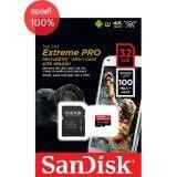 ซื้อ Sandisk Extreme Pro Microsd 32Gb ความเร็ว อ่าน 100Mb S เขียน 90Mb S รองรับ V30 U3 C10 Uhs I ถูก