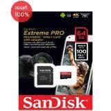 Sandisk Extreme Pro Microsd 64Gb ความเร็ว อ่าน 100Mb S เขียน 90Mb S รองรับ V30 U3 C10 Uhs I ใน กรุงเทพมหานคร