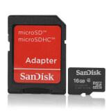 ส่วนลด Sandisk Micro Sd 16 กิกะไบต์ Class 4 Sdhc พร้อมการ์ด Sd