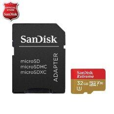 ขาย ซื้อ Sandisk Microsd Extreme Class 10 V30 U3 32Gb 90 60 Mb S With Adaptor Sqxvf032Ggn6Aa ใน ไทย