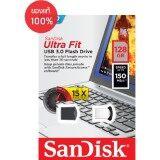 ขาย Sandisk Ultra Fit Usb 3 128Gb Usb3 150Mb S R Black With Cap