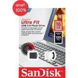 ราคา Sandisk Ultra Fit Usb 3 16Gb Usb3 130Mb S R Black With Cap
