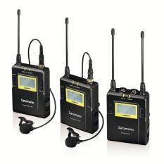 Saramonic UwMIC10 Set 2 Transmitter 96-Channel Digital UHF Wireless Lavalier Microphone System