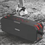 ซื้อ Sardine F4 Waterproof Hi Fi Stereo Lossless Music Bluetooth Speaker Black And Red ถูก