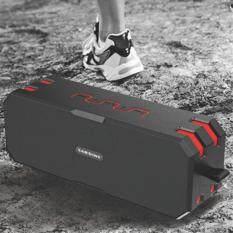 ซื้อ Sardine F4 Waterproof Hi Fi Stereo Lossless Music Bluetooth Speaker Black And Red Sardine