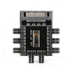 Sata 1 ถึง 8 ช่อง 3 Pin พัดลมคอมพิวเตอร์ส่วนบุคคล Splitter Hub - Intl By Airforce.