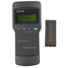 ราคา Sc8108 จอแอลซีดี Cat5 Rj45 ลานความยาวสายเคเบิลเครือข่ายสายโทรศัพท์มิเตอร์ทดสอบ สีดำ Unbranded Generic ฮ่องกง