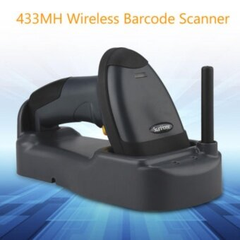 Scanhome 433Mhz Wireless Barcode Scanner Portable Handheld Scan Bar Code Reader W/Base 1D USB Barcode Scanner Wireless 1D Reader - intl