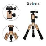 ขาย ซื้อ Selens Mini 7 18 Portable Aluminum Backpacker Travel Camera Tripod With Ballhead For Canon Nikon Etc Cameras Gold ใน จีน