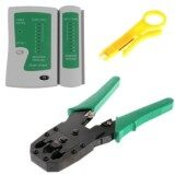 ซื้อ Set 2In1 คีมเข้าหัวสายแลน Network Rj45 Cat5 Rj11 Rj12 Lan Cable Wire Crimper Crimp Plier Strip Tool Green ตัวเช็คสายแลน Rj45 Rj11 Rj12 Cat5 Utp Network Lan Cable Tester Remote Test Tools White Green No Brand เป็นต้นฉบับ