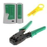 ส่วนลด Di Shop Set 2In1 คีมเข้าหัวสายแลน Network Rj45 Cat5 Rj11 Rj12 Lan Cable Wire Crimper Crimp Plier Strip Tool Green ตัวเช็คสายแลน Rj45 Rj11 Rj12 Cat5 Utp Network Lan Cable Tester Remote Test Tools White Green No Brand