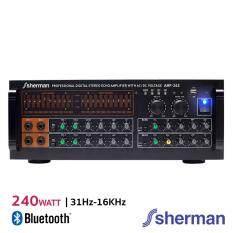Sherman แอมปลิฟายเออร์กลางแจ้ง (Bluetooth) สีดำ 240W รุ่น AMP-262