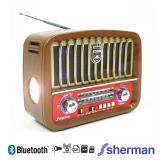 ขาย Sherman วิทยุแบบพกพา Bluetooth รุ่น J 4444 สีน้ำตาล ราคาถูกที่สุด