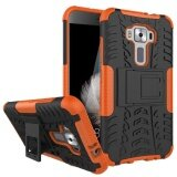 ซื้อ Shockproof Heavy Duty Combo Hybrid Rugged Dual Layer Grip Cover With Kickstand For Asus Zenfone 3 5 2 Ze520Kl Intl ใหม่