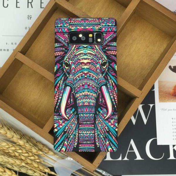 Hot Deal SHUNJIA [กลางคืนเรืองแสง] สัตว์รูปแบบสำหรับ Galaxy Note 8 Note8 - นานาชาติ ราคาช็อก