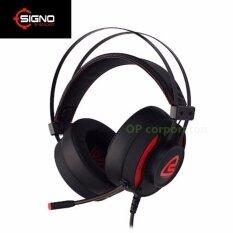 ซื้อ Signo E Sport 7 1 Surround Sound Vibration Gaming Headphone รุ่น Magnetar Hp 819 Black ใหม่ล่าสุด