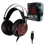 ซื้อ หูฟังเกมมิ่ง มีไฟ สั่นได้ Signo E Sport 7 1 Surround Sound Vibration Gaming Headphone รุ่น Alligator Hp 818 Black รับประกัน 1 ปี Signo ออนไลน์