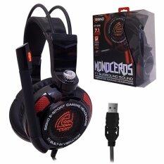 หูฟังเกมมิ่ง#มีไฟ สั่นได้ SIGNO E-Sport MONOCEROS 7.1 Sound Vibration รุ่น HP-816 สีดำ รับประกัน 1 ปี