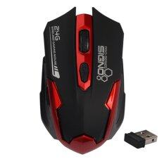 signo wireless gaming mouse wm-191br (black/red).