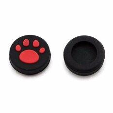ซิลิโคน Silicone Analog Thumb Stick Grips Cap Cover for PSV 1000 2000 PS Vita PSP Controllers - Red