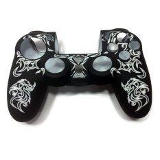 ซิลิโคน Silicone Rubber Skin Case Cover White For Sony PlayStation 4 PS4 Controller