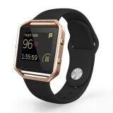 ขาย Silicone Soft Sport Replacement Strap With Rose Gold Frame For Fitbit Blaze Smart Fitness Watch Unbranded Generic ใน จีน
