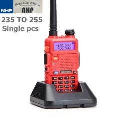 SINGLE เครื่องส่งรับวิทยุ 235~255MHz BAOFENG UV-5R Dual Band Radio Interphone DTMF FM Walkie-Talkie (RED)