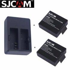 Sjcam Dual Slot Charger Battery X 2 For Sjcam Sj4000 Sj5000 M10 กรุงเทพมหานคร