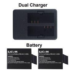 ซื้อ Sjcam Dual Slot Charger Battery X 2 For Sjcam Sj4000 Sj5000 M10 ออนไลน์ กรุงเทพมหานคร