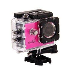 SJCAM  กล้อง actioncamera กันน้ำ รุ่น SJ4000 Wifi  - สีชมพู