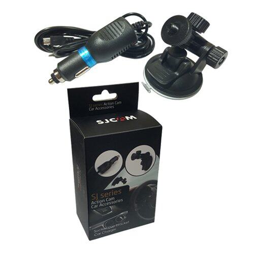 SJCAM Sj4000 Sj5000 Car Set (Suctioncup + Car Charger)