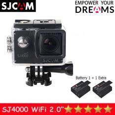 SJCAM SJ4000 Wi-Fi 12MP Model 2016เมนูไทย จอ2.0นิ้ว(Black) (+ Battery)