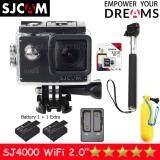 ราคา Sjcam Sj4000 Wi Fi 12Mp Model 2016เมนูไทย จอ2 0นิ้ว Black Battery Dual Slot Charger Monopod Bobber Kingston Micro Sd 32Gb Class10 Sjcam ไทย