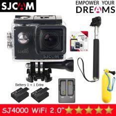 SJCAM SJ4000 Wi-Fi 12MP Model 2016เมนูไทย จอ2.0นิ้ว(Black) (+ Battery+Dual Slot Charger+Monopod+Bobber+Kingston Micro SD 32GB /Class10)