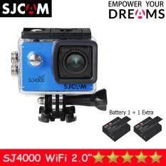 SJCAM SJ4000 Wi-Fi 12MP Model 2016เมนูไทย จอ2.0นิ้ว(Blue) (+ Battery)