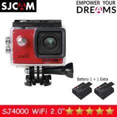 SJCAM SJ4000 Wi-Fi 12MP Model 2016เมนูไทย จอ2.0นิ้ว(Red) (+ Battery)