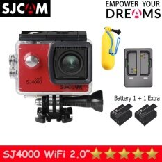 SJCAM SJ4000 Wi-Fi 12MP Model 2016เมนูไทย จอ2.0นิ้ว(Red) (+ Battery+Dual Slot Charger+Bobber Floatting)