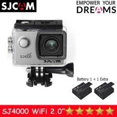 SJCAM SJ4000 Wi-Fi 12MP Model 2016เมนูไทย จอ2.0นิ้ว(Silver) (+ Battery)