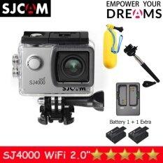 SJCAM SJ4000 Wi-Fi 12MP Model 2016เมนูไทย จอ2.0นิ้ว(Silver) (+ Battery+Dual Slot Charger+Monopod+Bobber)