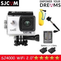 SJCAM SJ4000 Wi-Fi 12MP Model 2016เมนูไทย จอ2.0นิ้ว(White) (+  Battery+Dual Slot Charger+Monopod+Bobber)