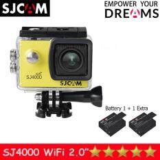 SJCAM SJ4000 Wi-Fi 12MP Model 2016เมนูไทย จอ2.0นิ้ว(Yellow) (+ Battery)