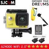 ขาย Sjcam Sj4000 Wi Fi 12Mp Model 2016เมนูไทย จอ2 0นิ้ว Yellow Battery Dual Slot Charger Monopod Bobber Sjcam เป็นต้นฉบับ