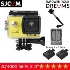 SJCAM SJ4000 Wi-Fi 12MP Model 2016เมนูไทย จอ2.0นิ้ว(Yellow) +Battery+Dual Slot Charger+Monopod