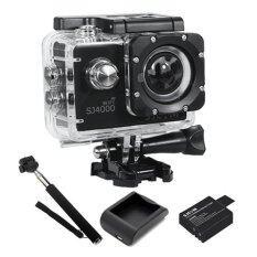 ราคา Sjcam Sj4000 Wi Fi 12Mp Model 2016เมนูไทย จอ2 0นิ้ว Black Battery Charger Monopod Sjcam