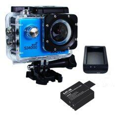 SJCAM SJ4000 Wi-Fi 12MP Model 2016เมนูไทย จอ2.0นิ้ว(Blue) (+ Battery+Charger)