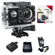 SJCAM SJ4000 Wi-Fi 12MP Model 2016เมนูไทย จอ2.0นิ้ว(Black) (+   Battery+Charger+CarSet+Kingston Micro SD 32GB)