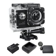 SJCAM SJ4000 Wi-Fi 12MP Model 2016เมนูไทย จอ2.0นิ้ว(Black) (+ Battery+Charger+Cover Lens)