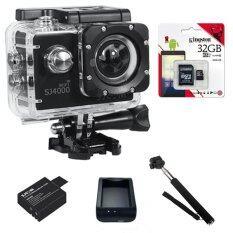SJCAM SJ4000 Wi-Fi 12MP Model 2016เมนูไทย จอ2.0นิ้ว(Black) (+ Battery+Charger+Monopod+Kingston Micro SD 32GB)